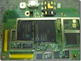 HTC HD2 в разобранном виде