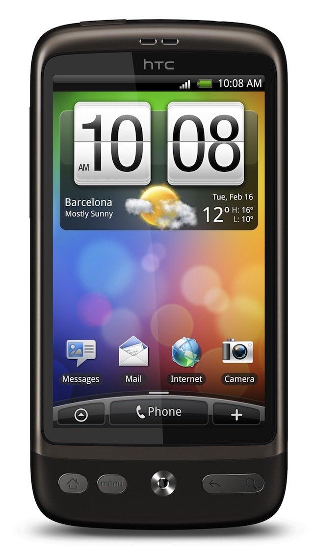 HTC Desire — вид спереди