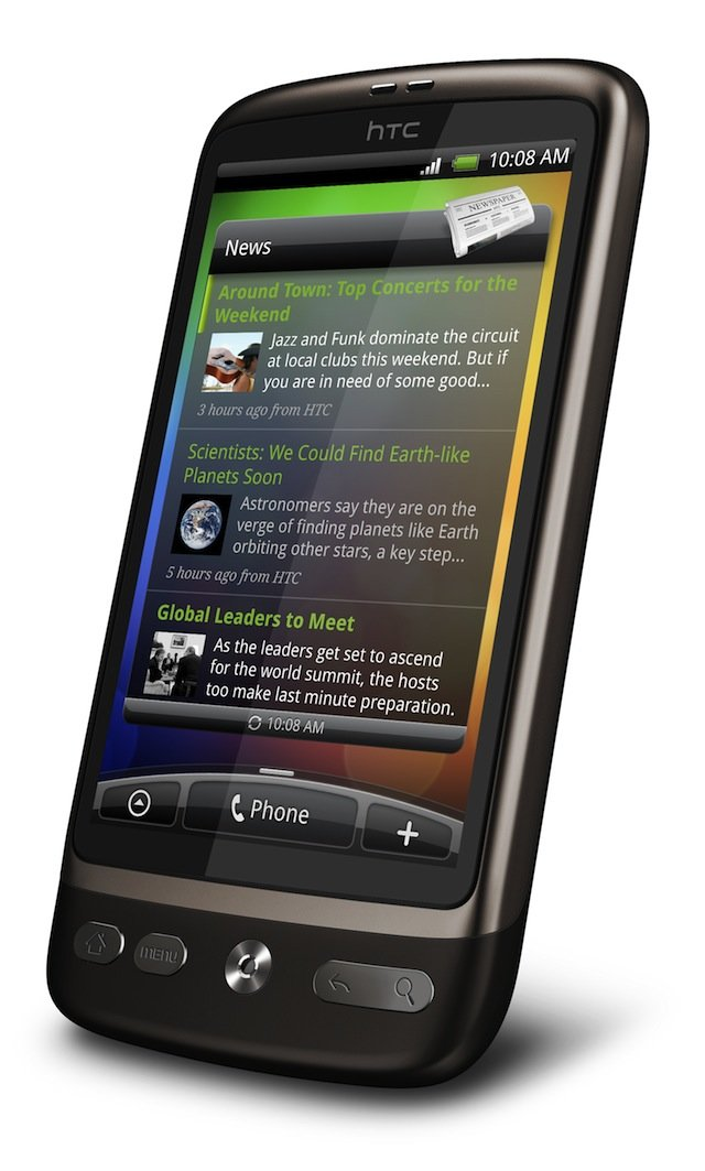 HTC Desire — вид справа