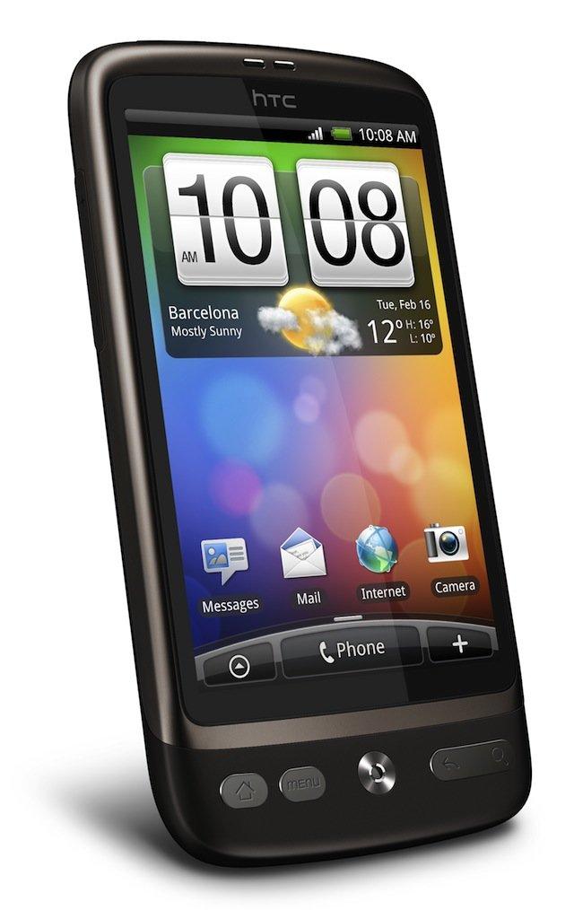 HTC Desire — вид слева