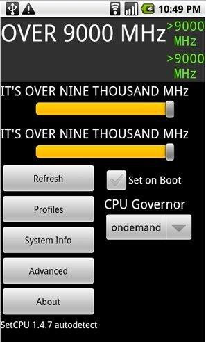 Разгон Nexus One до 9000 МГц