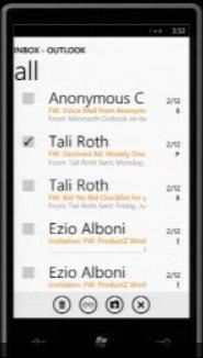 Windows Phone 7 — контакты