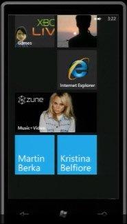 Windows Phone 7 — рабочий стол