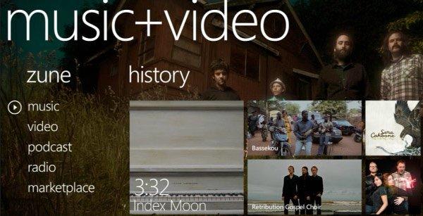 Windows Phone 7 — музыка и видео