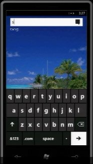Windows Phone 7 — поиск