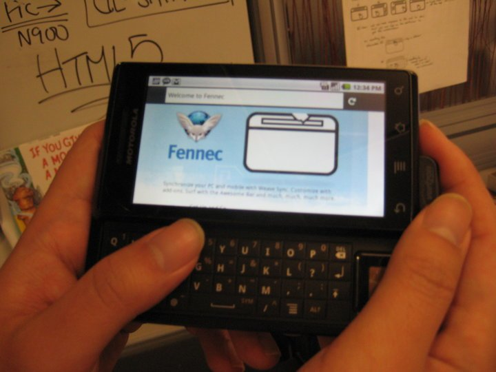 Firefox Mobile для Android на Motorola Droid