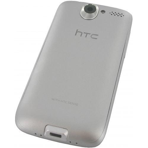 HTC Desire в серебристом корпусе — вид сзади