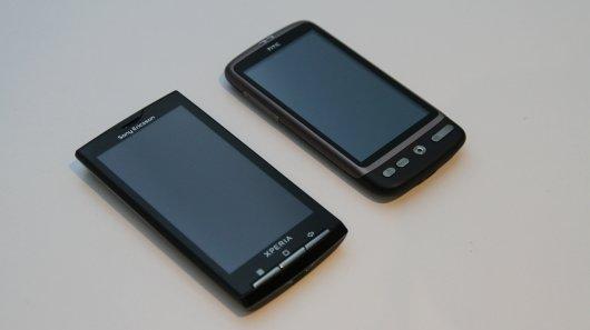 HTC Desire и Sony Ericsson Xperia X10