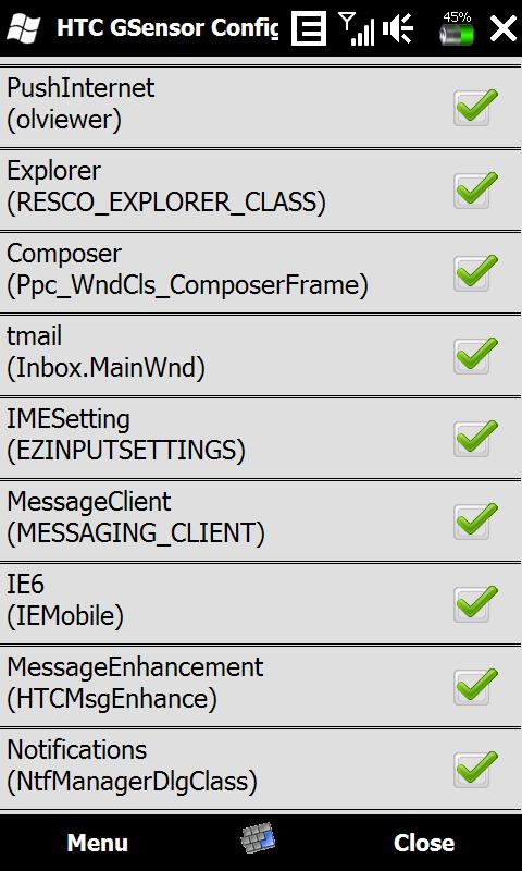 Как быстро настроить автоматический поворот экрана на коммуникаторе HTC