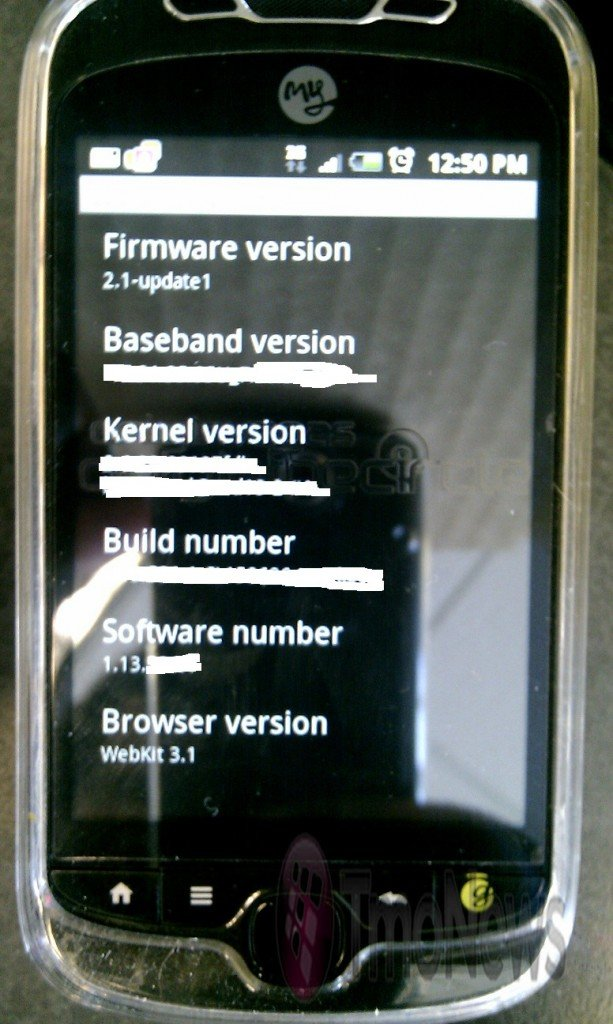 T-Mobile myTouch Slide на Android 2.1
