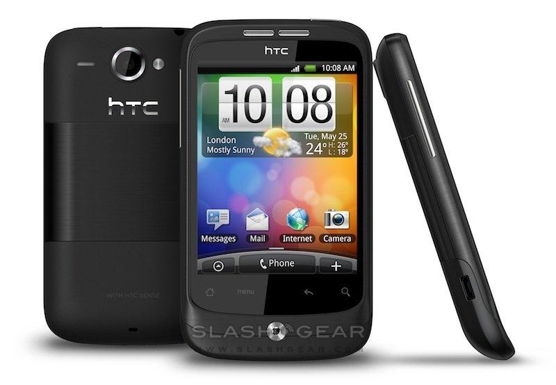 HTC Wildfire — черный корпус