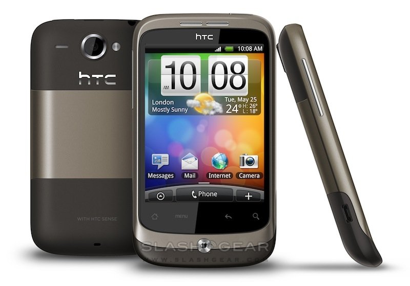 HTC Wildfire — серый корпус