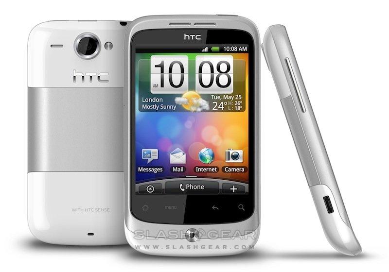 HTC Wildfire — белый корпус