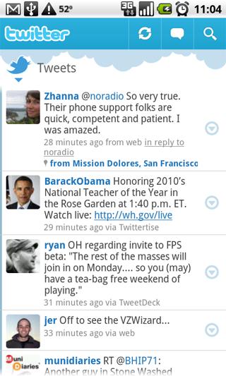 Официальный twitter–клиент для Android