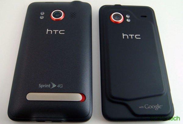 HTC EVO 4G и Droid Incredible — вид сзади