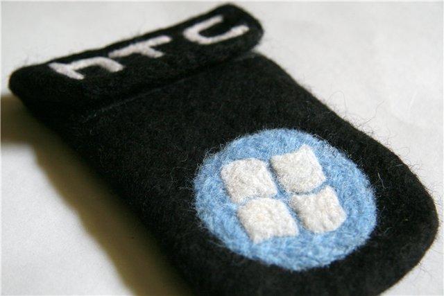 Чехол ручной работы из войлока для HTC — Windows Mobile