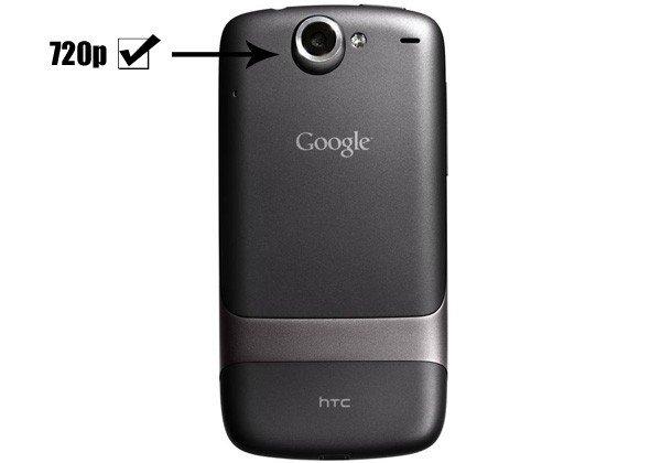 Nexus One научили снимать HD-видео