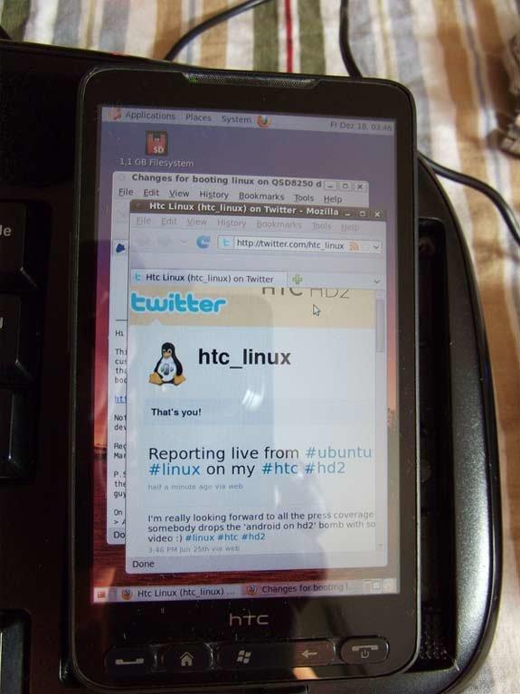 Ubuntu на HTC HD2