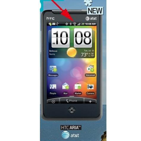 Aria со значком 4G