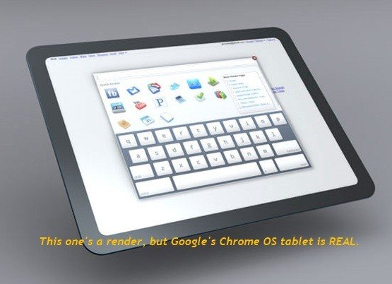 Компьютерная модель планшета на ОС Chrome