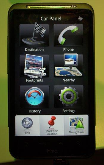 Навигационный режим в новом HTC Sense