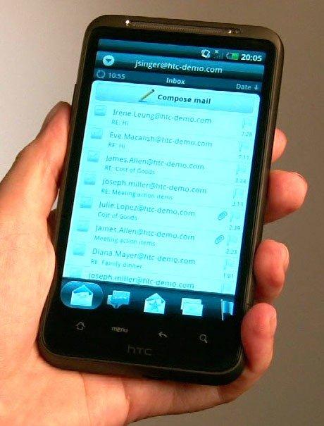 e-mail клиент в новом HTC Sense