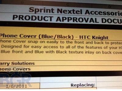 HTC Knight в базе Sprint