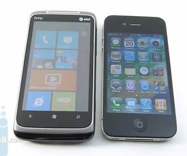 HTC Surround и iPhone 4