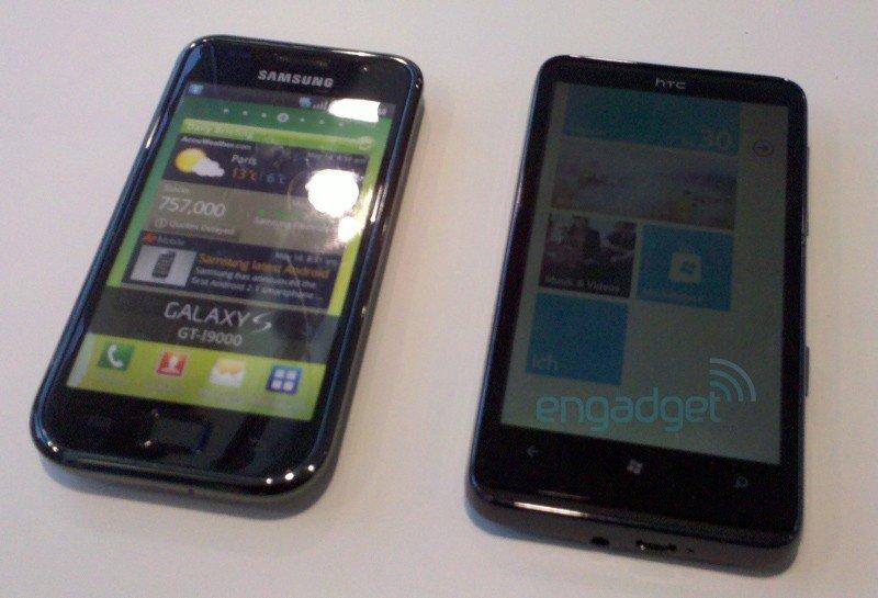Samsung Galaxy S и HTC HD7