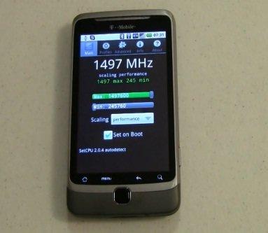 Тестируем «разогнанный» T-Mobile G2