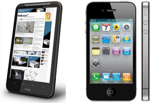 Desire HD против iPhone 4