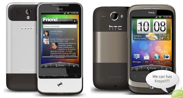 Android 2.2: сегодня Legend, скоро Wildfire