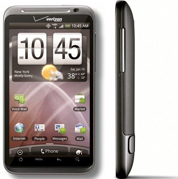 HTC Thunderbolt — вид спереди