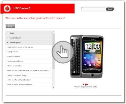 Интерактивное знакомство с HTC Desire Z