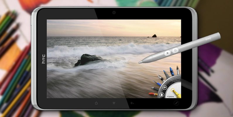 HTC Flyer со стилусом