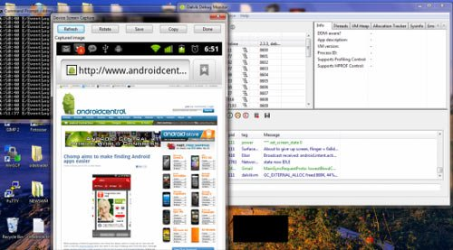 Android 2.3.3 Gingerbread научили делать скриншоты