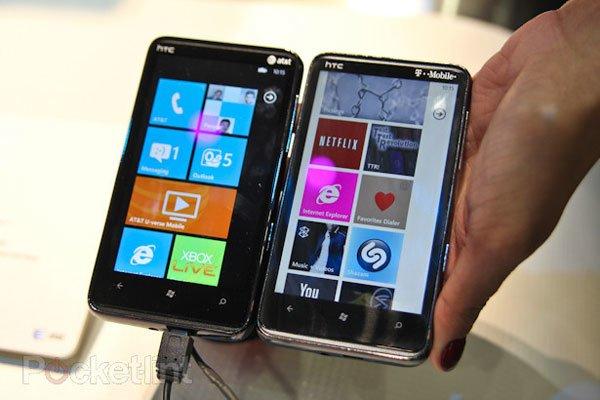 Сравнение экранов HTC HD7S и HD7