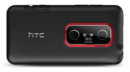 HTC EVO 3D сзади