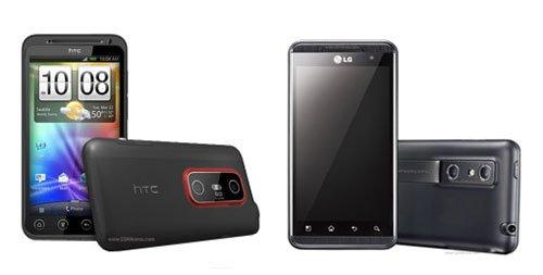 HTC EVO 3D и LG Optimus 3D