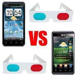 HTC EVO 3D против LG Optimus 3D