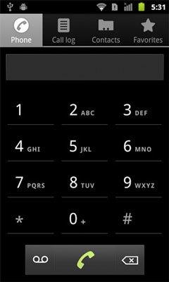 Номеронабиратель в HTC Sense для Android