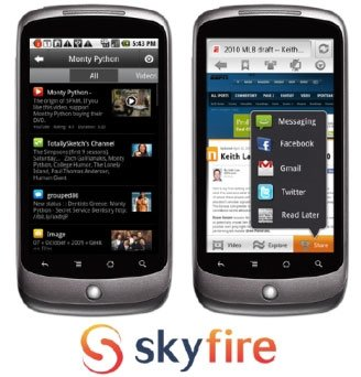 Браузер Skyfire 4 для Android