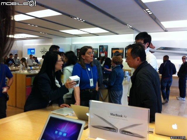 Чер Ван в Apple Store
