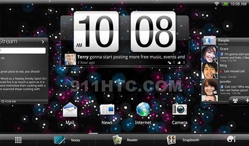 Скриншот интерфейса HTC Puccini