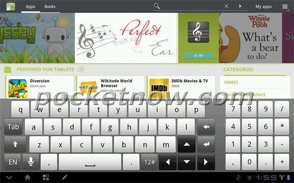 Скриншот экрана HTC Puccini