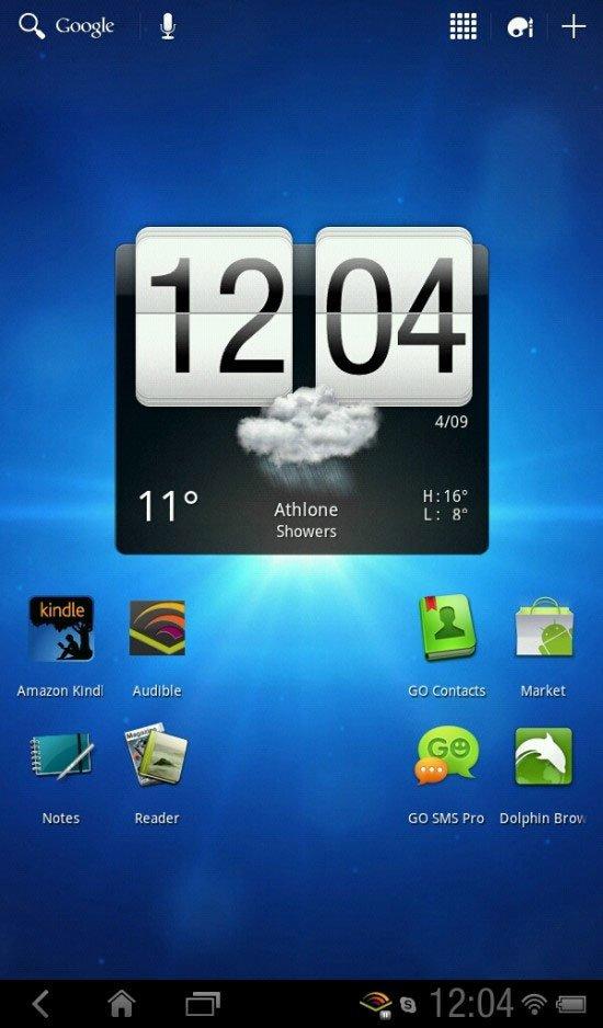 Honeycomb на HTC Flyer