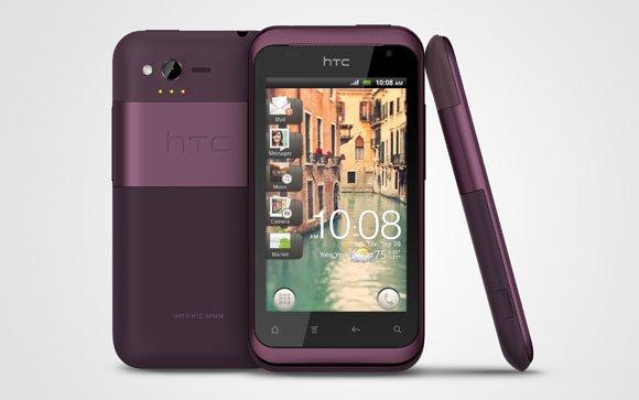 HTC Rhyme в корпусе фиолетового цвета
