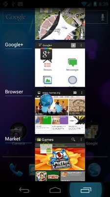 Диспетчер задач в Android 4