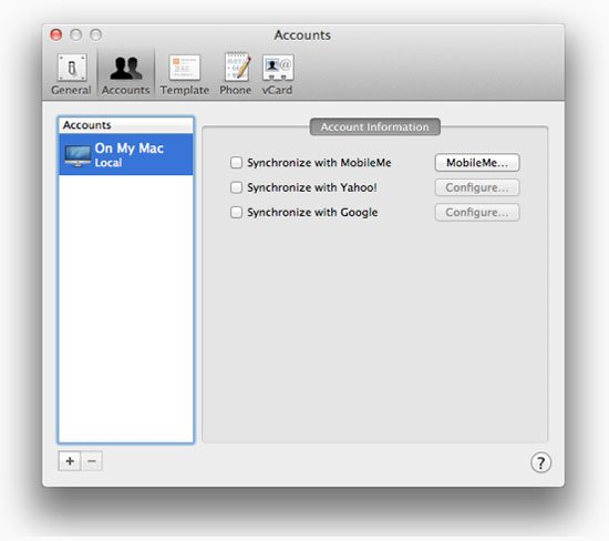Настройка cинхронизации с Google в Mac