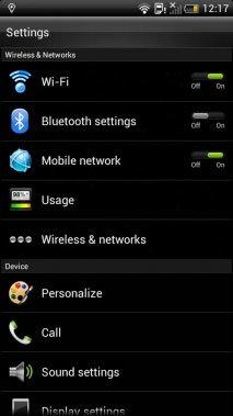 Android 4 на HTC Sensation